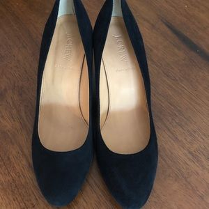 J. Crew suede wedges- Size 9.5